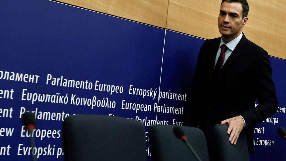 Foto: El presidente del Gobierno, Pedro Sáncez, en el Parlamento Europeo (Efe)