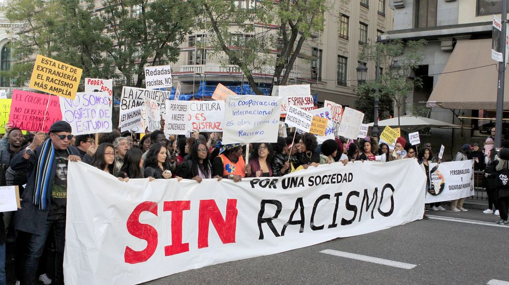 Foto: Manifestación contra el racismo en Madrid. (EFE)