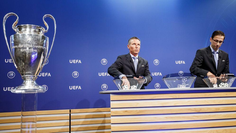 Foto: Sorteo de la Champions League. (EFE)