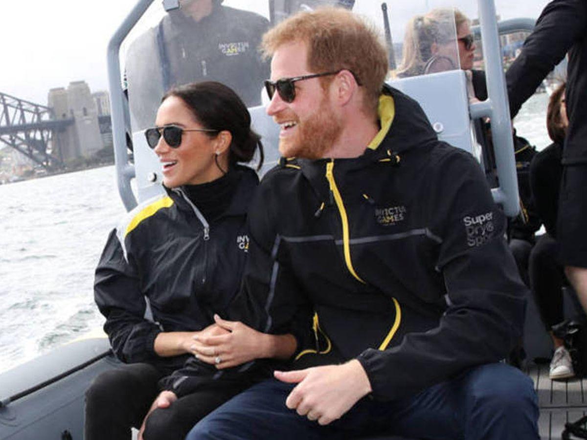 Foto: Meghan Markle y el príncipe Harry en Australia. (Getty)