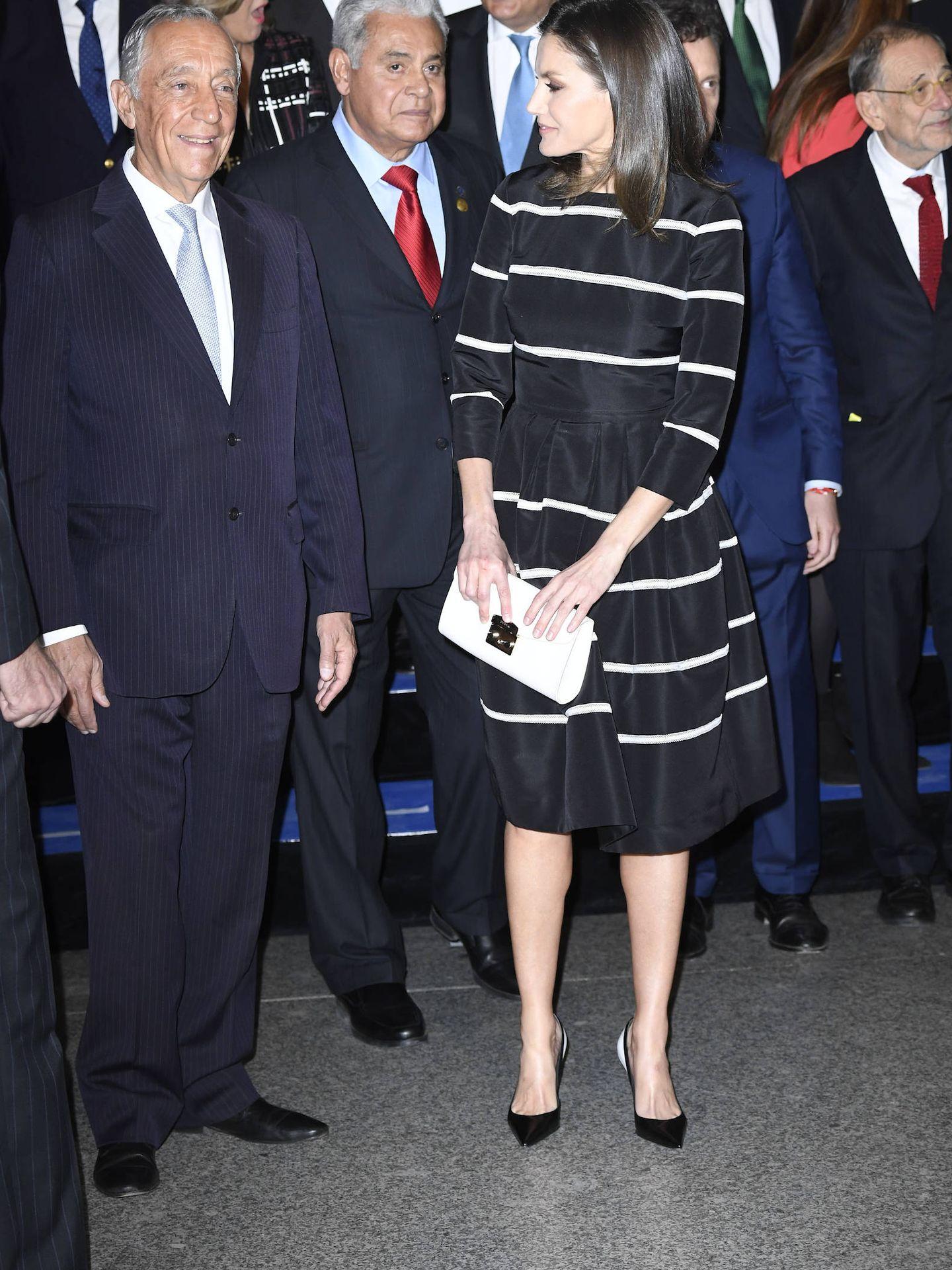 Letizia junto al presidente luso, que también ha estado presente. (Limited Pictures)