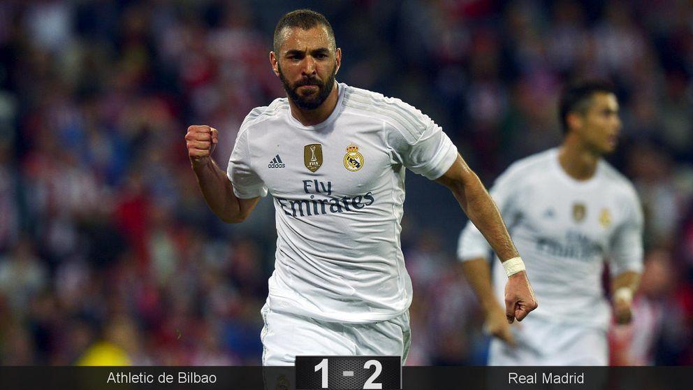 Benzema se toma en serio la apuesta de Benítez y sitúa al Madrid líder de LaLiga
