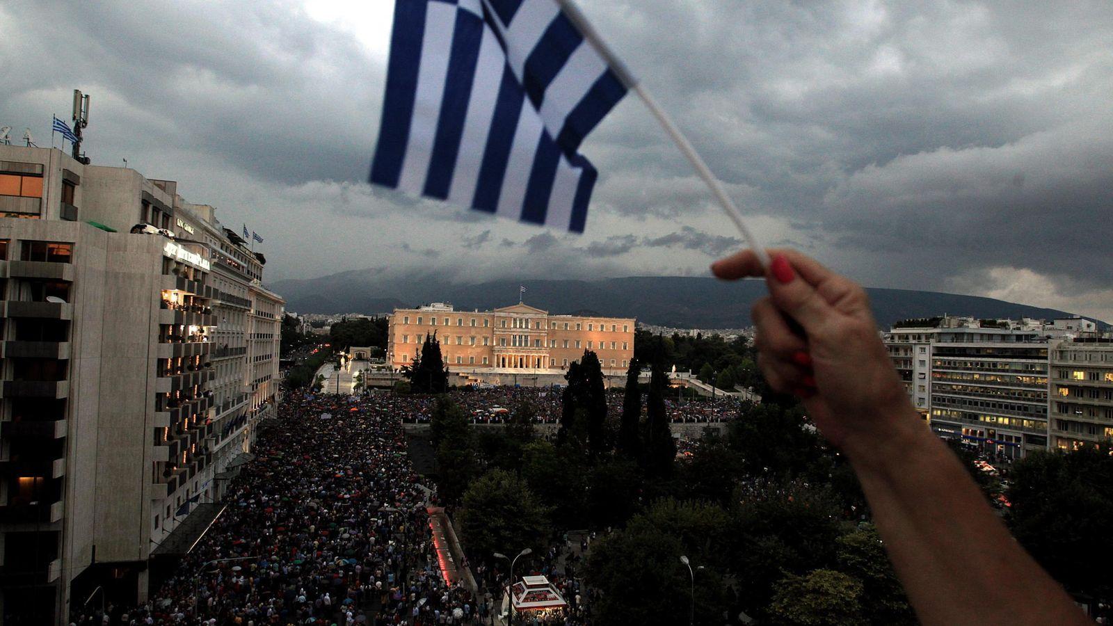 Foto: Manifestación a favor del 'sí' en el referéndum de Grecia. (EFE)