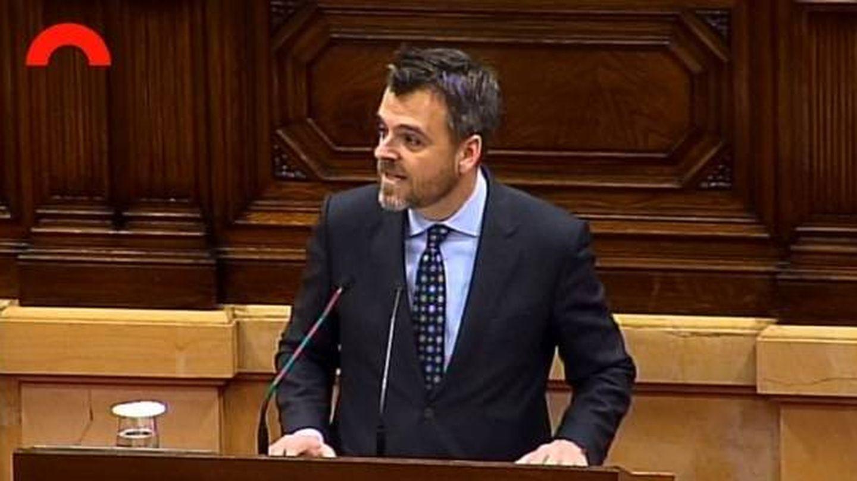 Jordi Cuminal, de Junts pel Sí, en el Parlament de Catalunya. (Parlament)