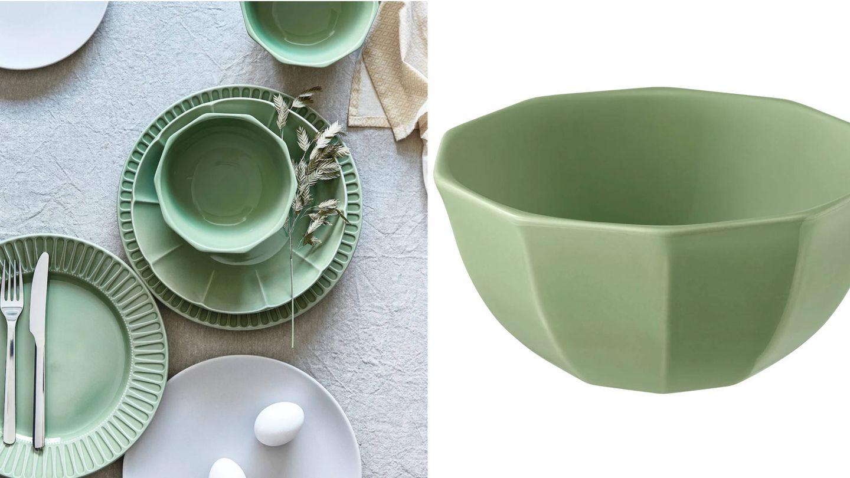 Ikea ofrece estos cuencos en color verde. (Cortesía)