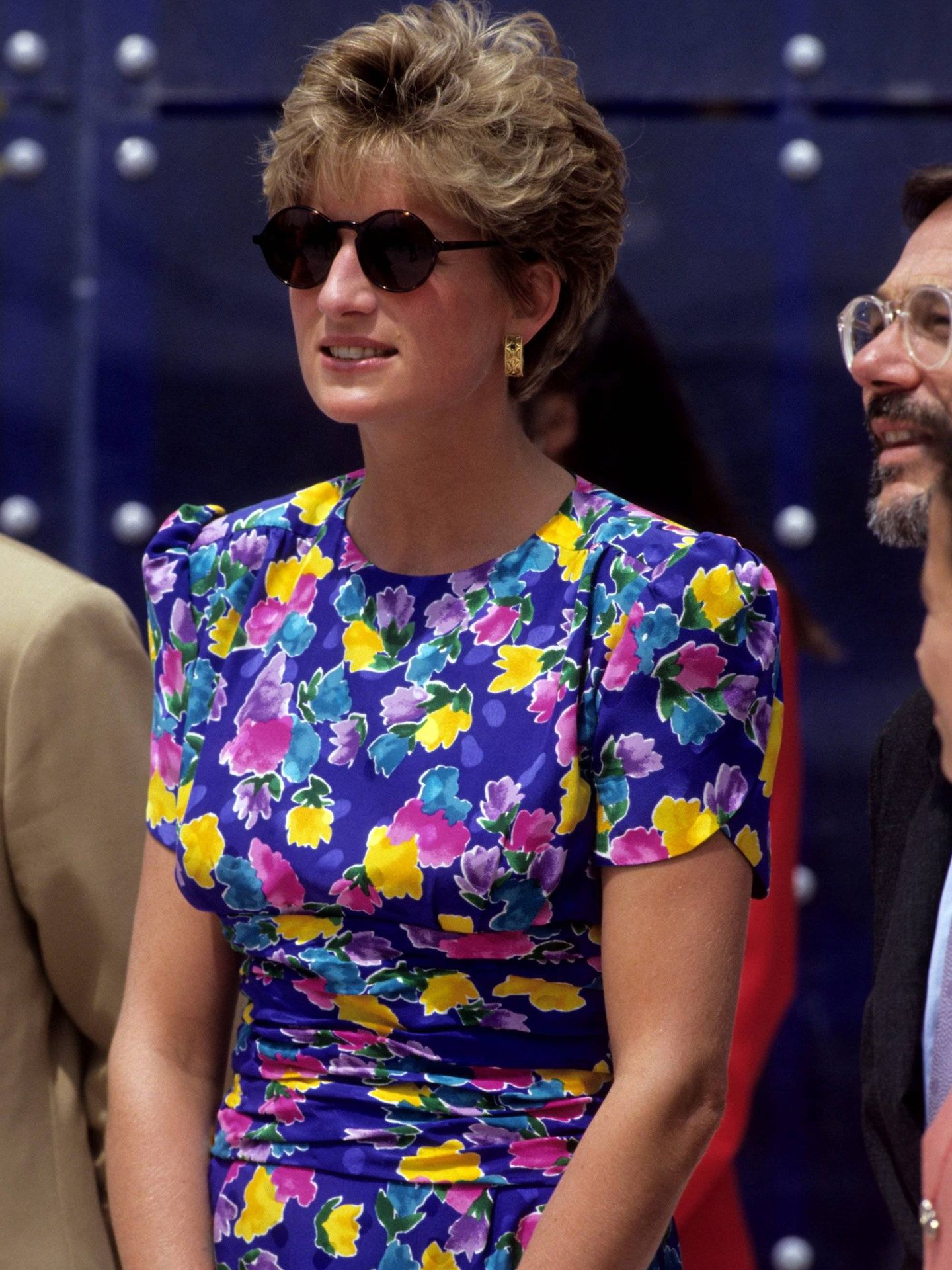 Diana, junto a Javier Solana. (Cordon Press)