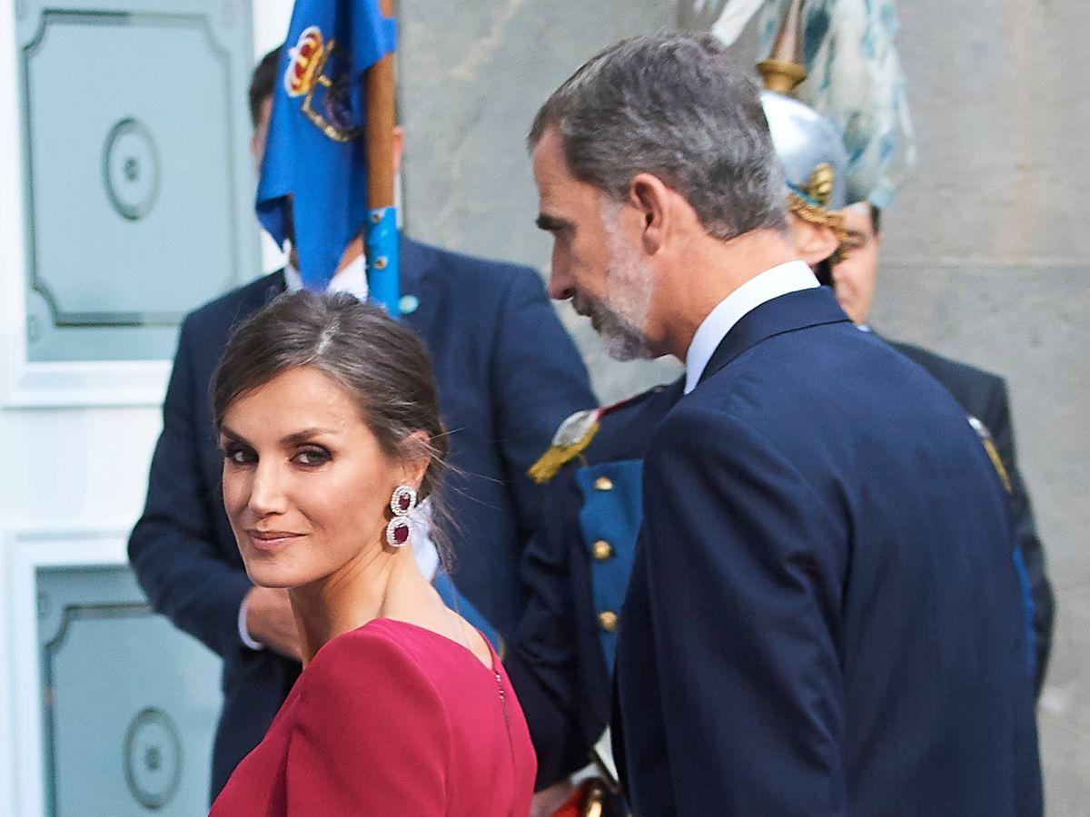 Foto: Letizia, vestida por Varela en la última edición de los Premios Princesa de Asturias. (Limited Pictures)