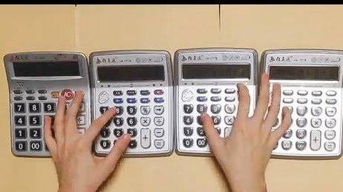 La canción de Super Mario... con calculadoras