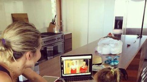 Instagram - Elsa Pataky ve a 'papá Hemsworth' en la tele con los niños