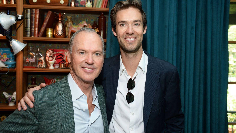 Michael Keaton y su hijo Sean. (Getty)