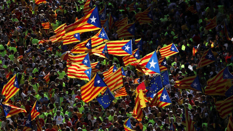 Foto: Manifestación en Cataluña a favor de la independencia. (EFE)