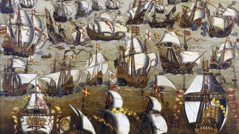 Foto: La batalla entre la armada española y la flota inglesa en agosto de 1588.