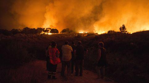 El humo del fuego en Verín (Ourense) llega a varias provincias de Castilla y León