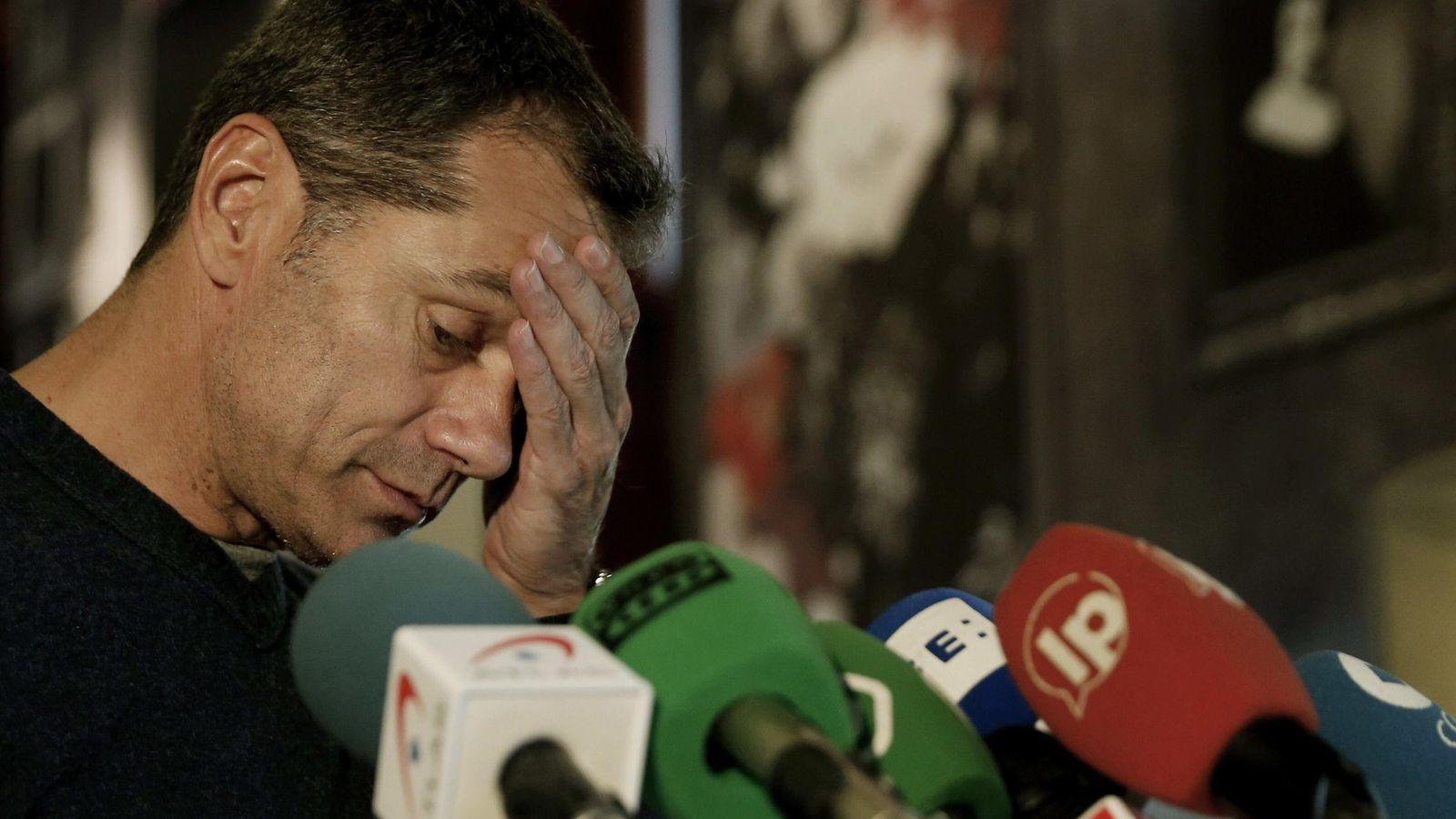 Foto: Toni Cantó este martes en la rueda de prensa en la que ha anunciado que deja su escaño en el Congreso. (Efe)