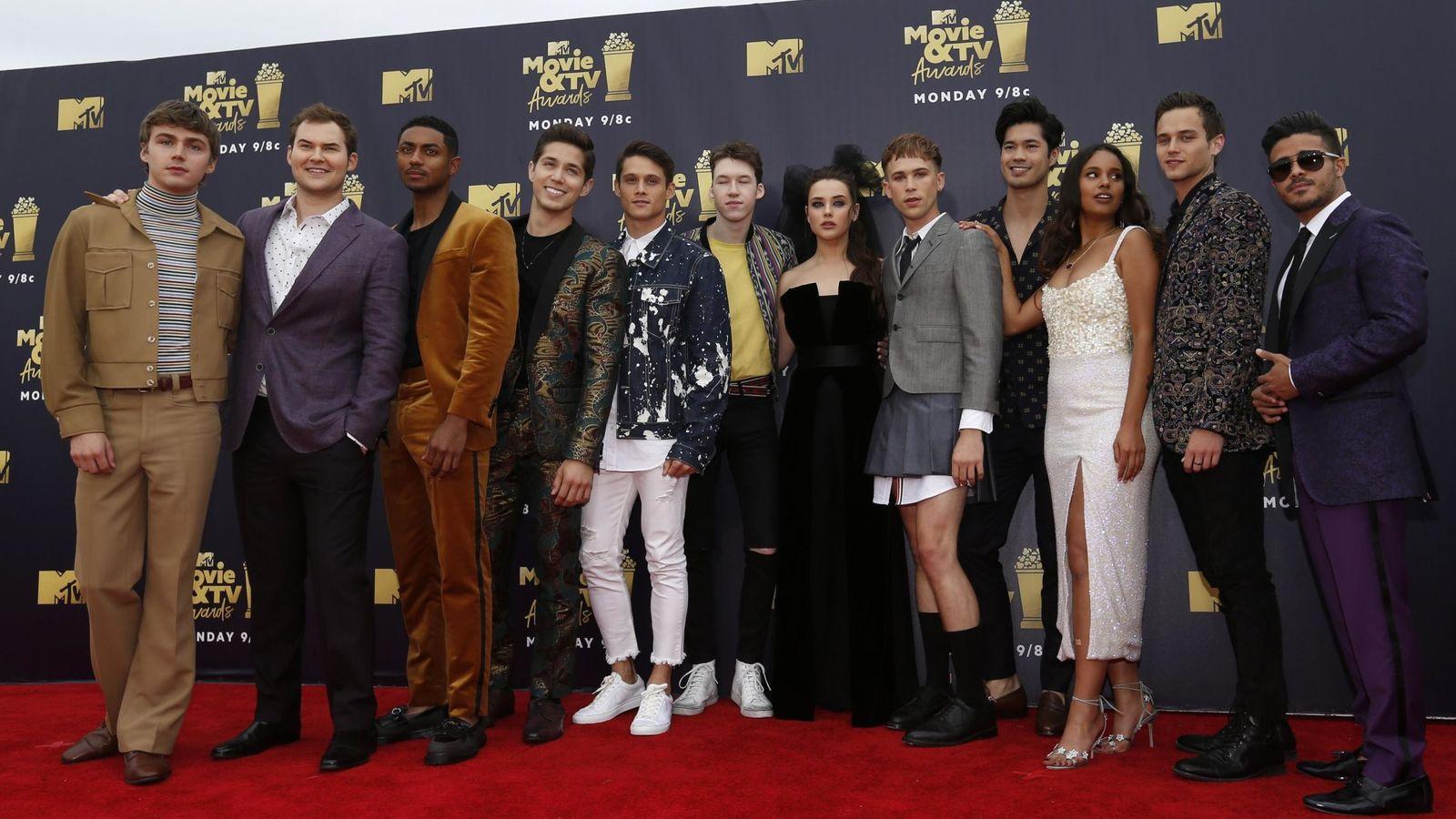 Foto: El reparto de la serie en los MTV Awards de 2018. (Reuters)