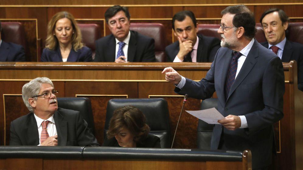 Foto: El presidente del Gobierno, Mariano Rajoy, interviene en la sesión de control al Ejecutivo. (EFE)