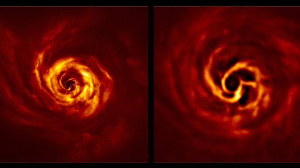 Foto: Primeras imágenes de la formación de un planeta. Foto: ESO