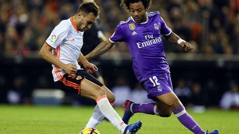 Las caras de la derrota del Real Madrid ante el Valencia