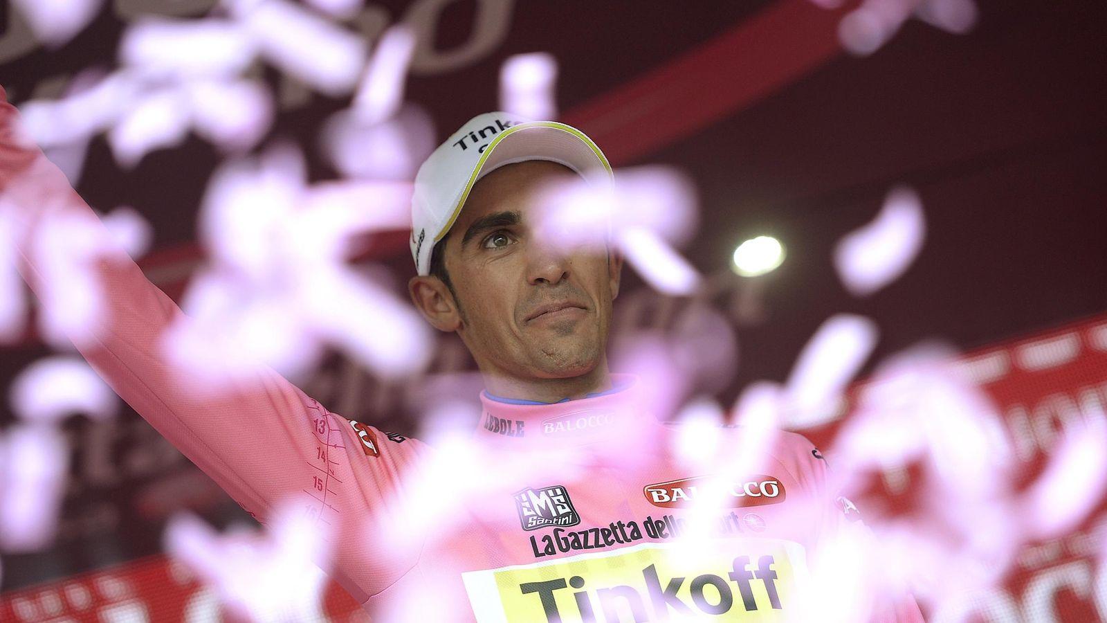 Foto: Alberto Contador tras una etapa del Giro de Italia 2015 (Reuters)