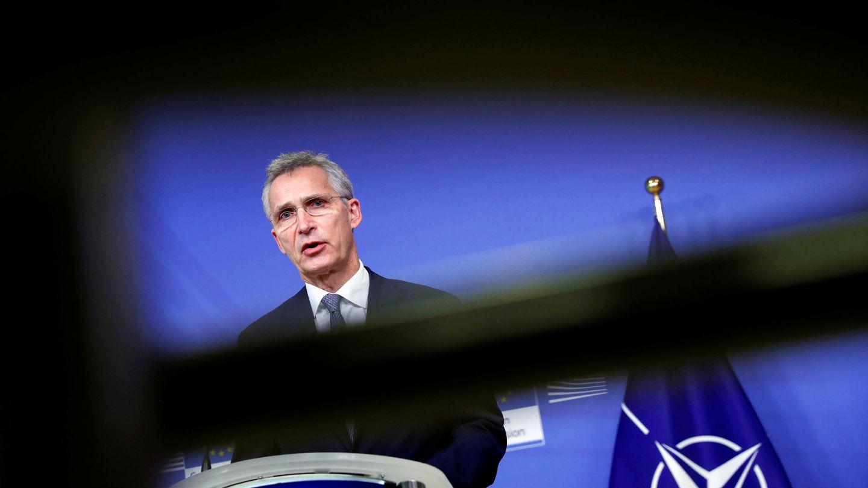Jens Stoltenberg, secretario general de la OTAN, en una comparecencia en Bruselas. (EFE)