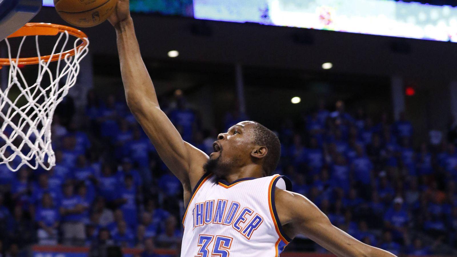 Foto: Kevin Durant es agente libre tras acabar su contrato con los Oklahoma City Thunder (EFE)
