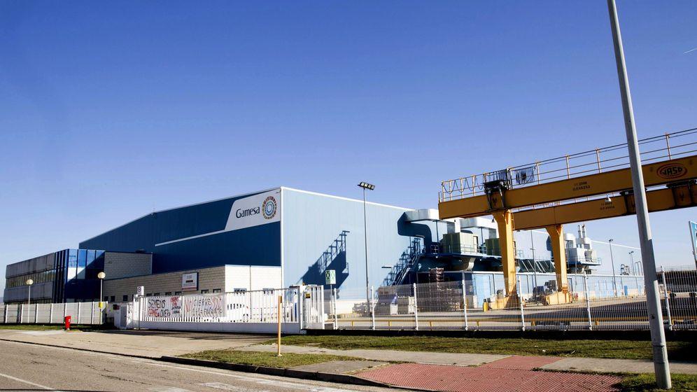 Foto: Vista de la planta de Siemens Gamesa en Miranda de Ebro (Burgos). (EFE)