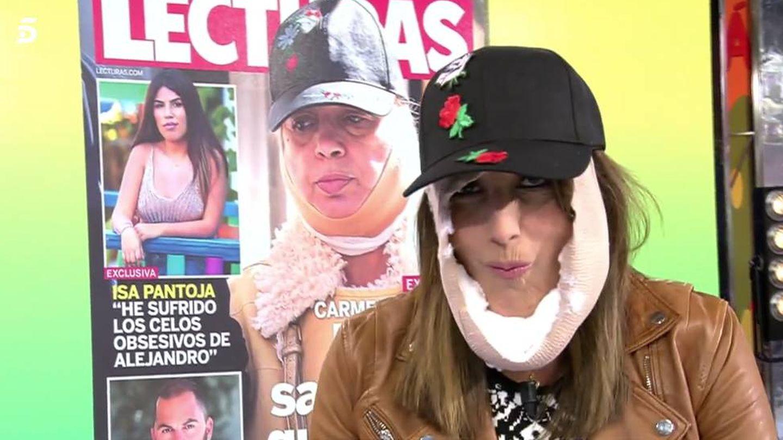 Paz Padilla, a lo Carmen Borrego. (Mediaset)