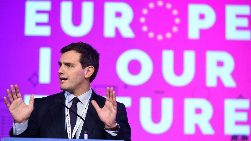 Foto: Albert Rivera en la reunión anual de ALDE que se celebró en Madrid. (EFE)