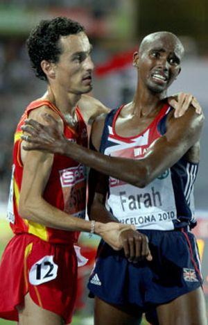 Jesús España logra la plata en los 5.000 metros sucumbiendo ante Mo Farah