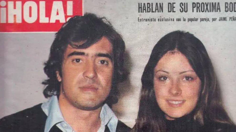 Patxi Andión y Amparo Muñoz, en una portada de '¡Hola!' de 1976.