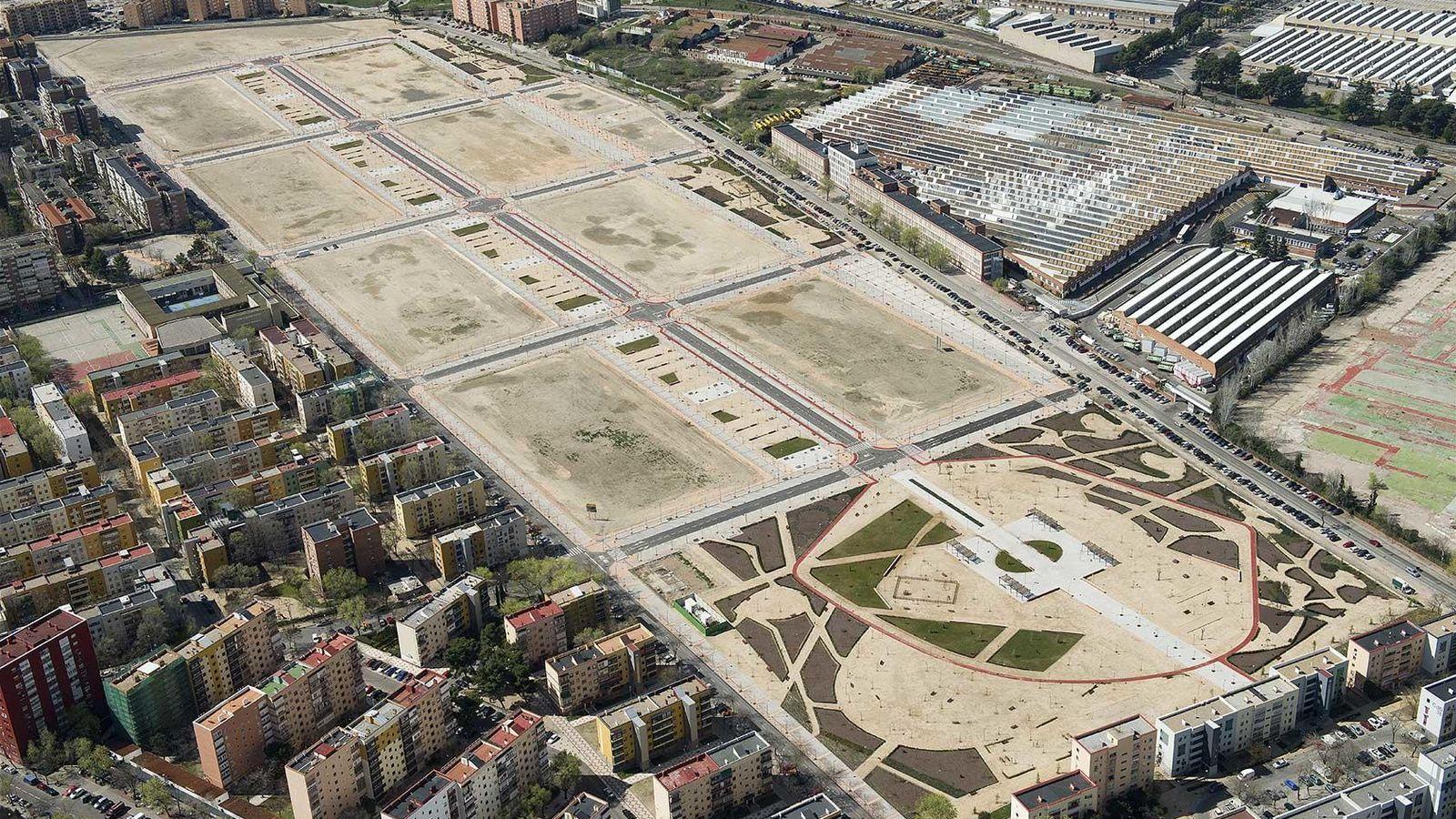 Foto: Foto aérea de la parcela vendida por Sepes en Villaverde.