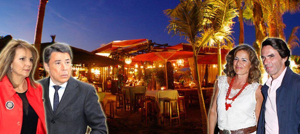 Foto: Los matrimonios Aznar Botella y González Cavero en un montaje realizado por 'Vanitatis'