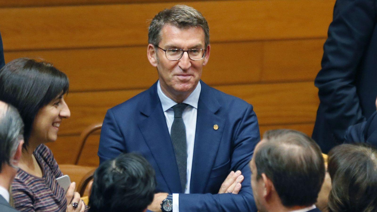 Foto: El presidente de la Xunta de Galicia, Alberto Nüñez Feijóo, en el debate de investidura. (EFE)