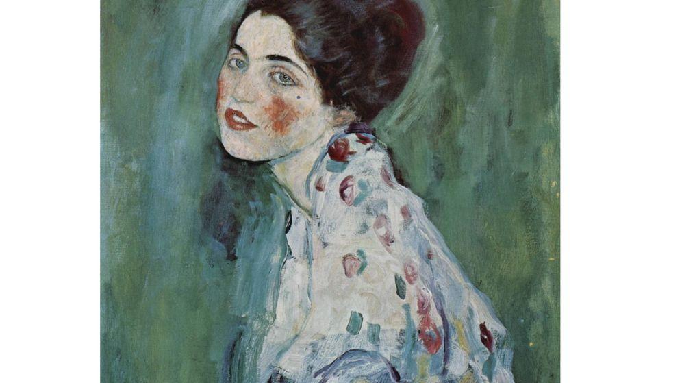 Foto: 'Retrato de una dama', el cuadro de Klimt perdido durante un traslado en 1997. Foto: Europa Press