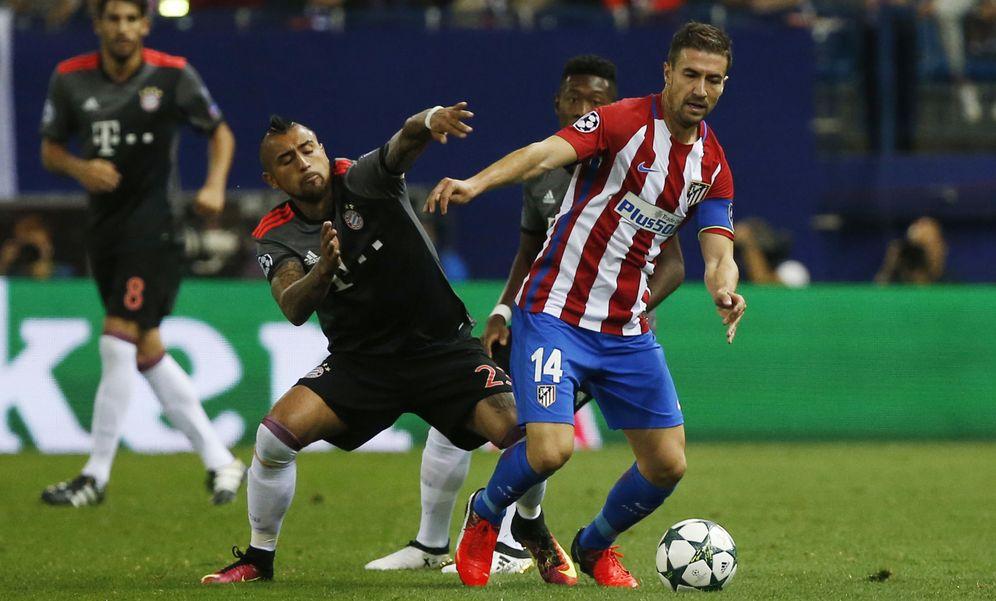 Foto: Gabi fue de los mejores en el partido de Champions contra el Bayern (Sergio Pérez/Reuters)