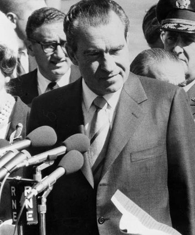 Foto: El presidente de los Estados Unidos de América, Richard Nixon, en visita oficial en España. (EFE)
