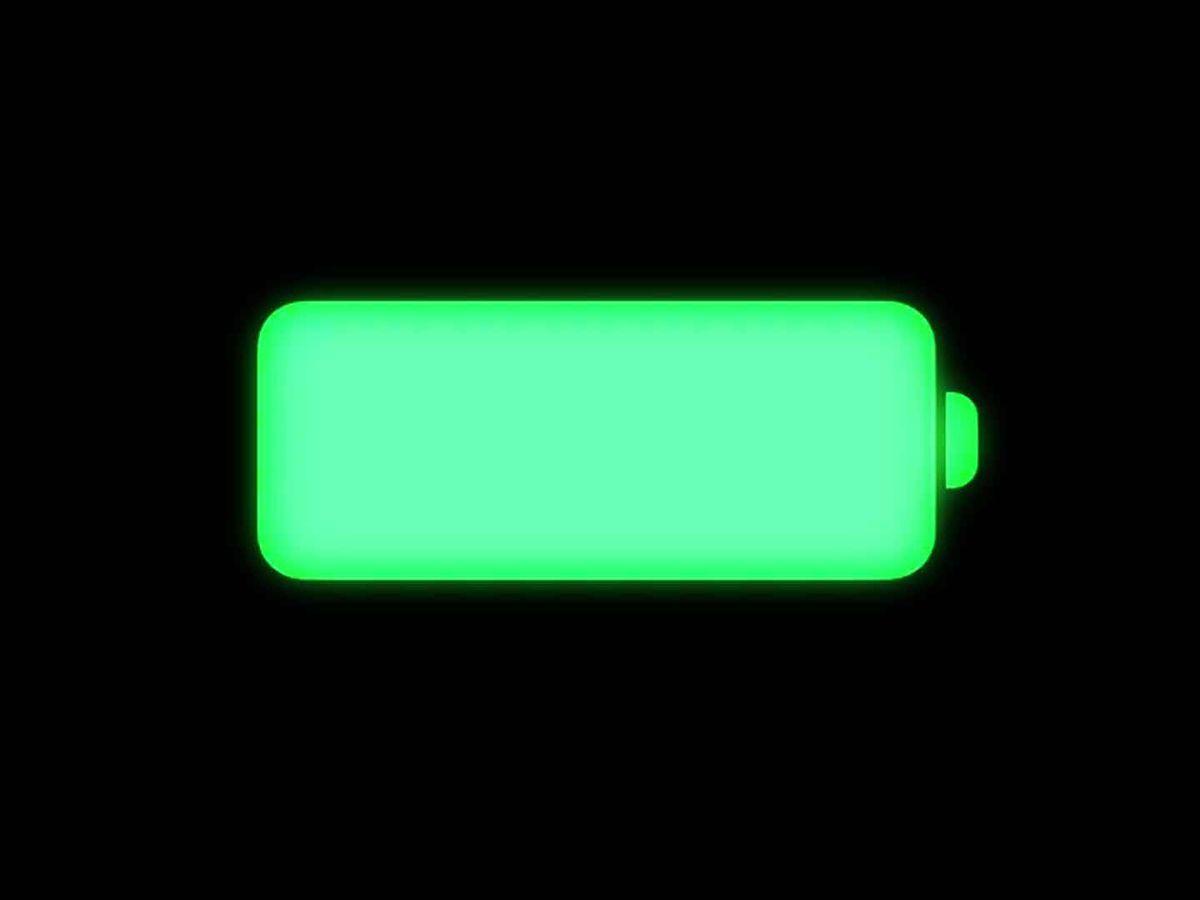 Foto: Indicador de batería de iPhone.