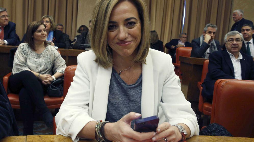 Foto: Carme Chacón, durante la reunión en el Congreso de los Diputados. (Efe)