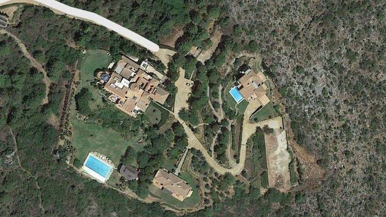 Vista aérea de Villa Sagitario, en Istán, muy cerca de Marbella.