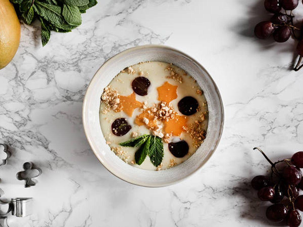 Foto: Sopa fría de chocolate blanco. (Snaps Fotografía)