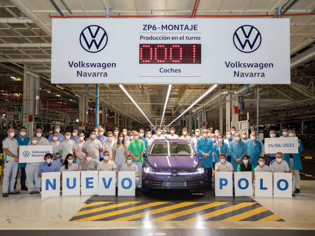Foto: Esta es la primera unidad del nuevo Polo fabricada en la planta de Landaben.