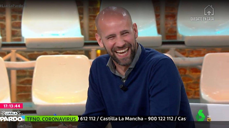Gonzalo Miró, en el plató de Cristina Pardo. (La Sexta).