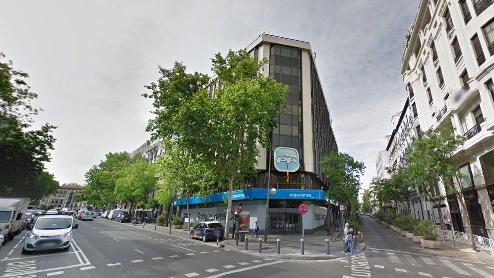 Foto: La sede del PP en Génova. (Google)