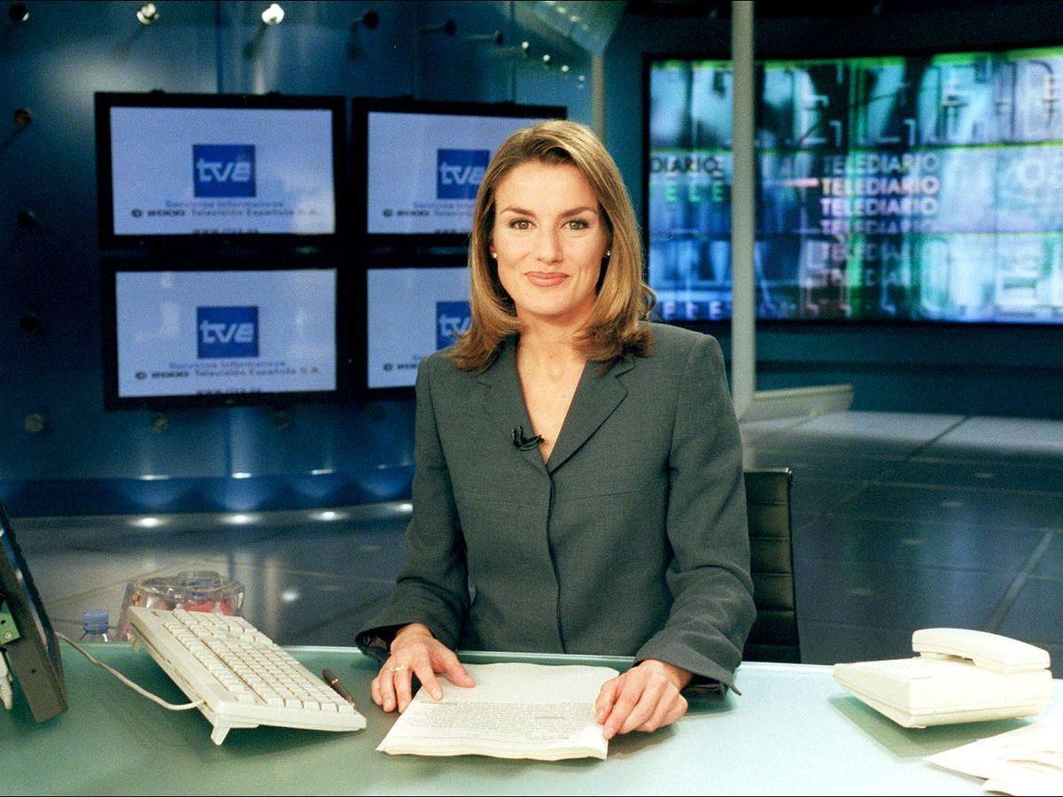 Foto: Letizia Ortiz, en el Telediario de Televisión Española. (Gtres)