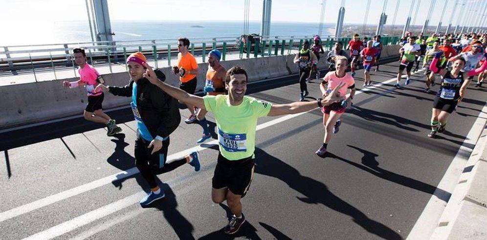 Foto: Raul González durante la Maratón de Nueva York (EFE)