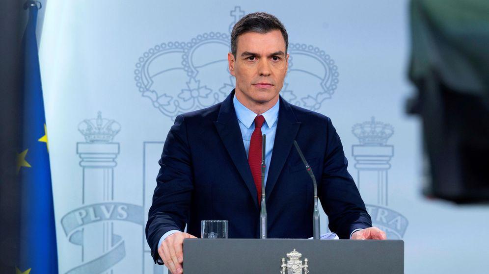 Foto: El presidente del Gobierno, Pedro Sánchez, en su declaración del sábado. (Reuters)