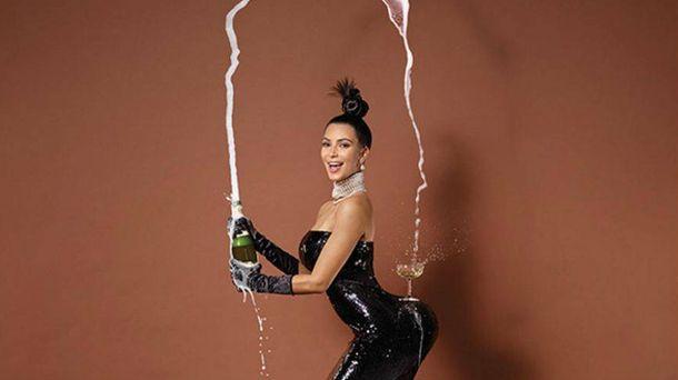 Foto: Kim Kardashian, en la portada de 'Paper'.