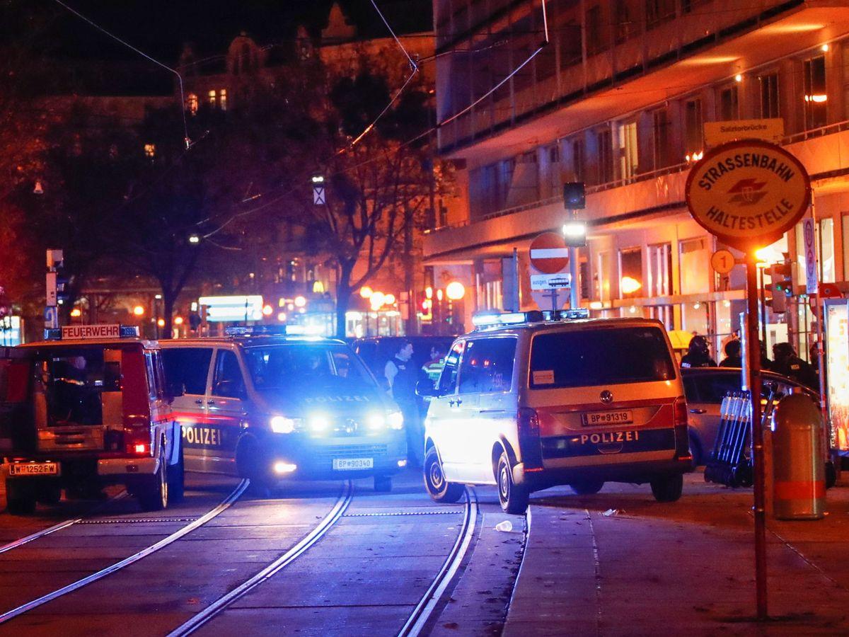 Foto: Despliegue policial en el centro de Viena. (Reuters)