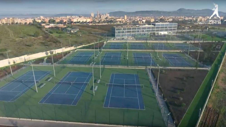 Imagen aérea del centro de tenis de Rafael Nadal en Manacor. (Rafa Nadal Academy)