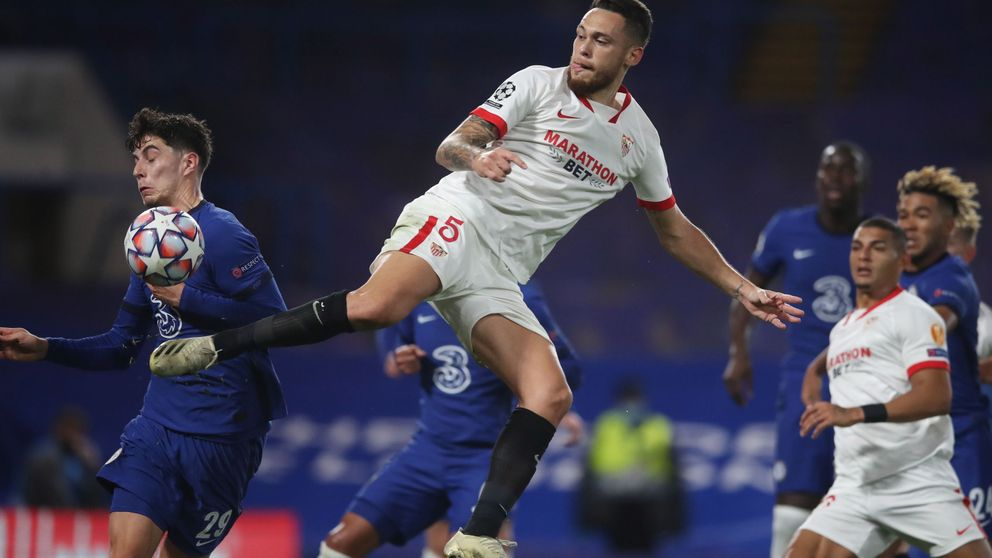 El Sevilla presenta sus credenciales para la Champions en Stamford Bridge (0-0)